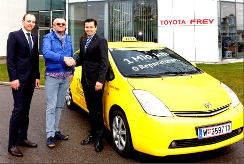 Autoperiskop.cz  – Výjimečný pohled na auta - Vídeňský taxík hybridní Toyota Prius ujel za osm let jeden milion kilometrů bez jediné závady nebo opravy