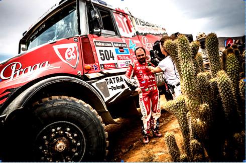 S Dakarem se Aleš Loprais loučí druhým etapovým zlatem!