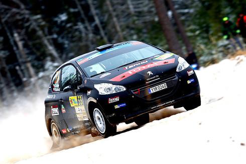 Černý Kohout s Peugeotam 208 R2 zvítězili o víkendu na první rally Juniorského Mistrovství Evropy rally