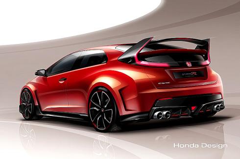 Autoperiskop.cz  – Výjimečný pohled na auta - Prototyp modelu Honda Civic Type R bude ve světové premiéře představen již 4. března na ženevském autosalonu 2014