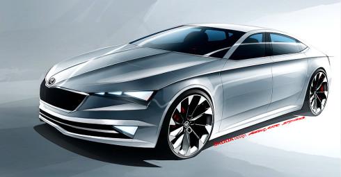 Škoda na březnovém autosalonu v Ženevě představí v premiéře designovou studii pětidveřového kupé VisionC