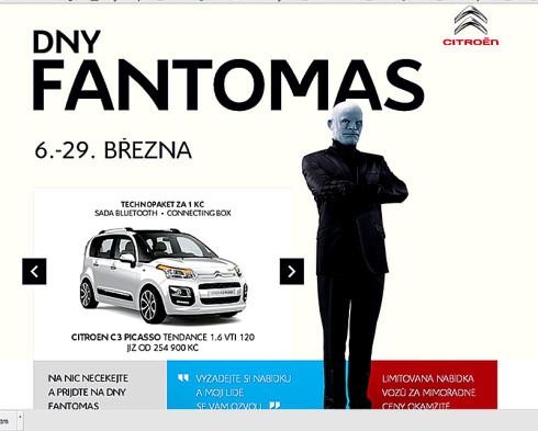 BYL JSEM ZDE ! U Citroënu probíhají Dny Fantomas: již od 6. do 29. března – Vozy Citroen za výhodné ceny!!!