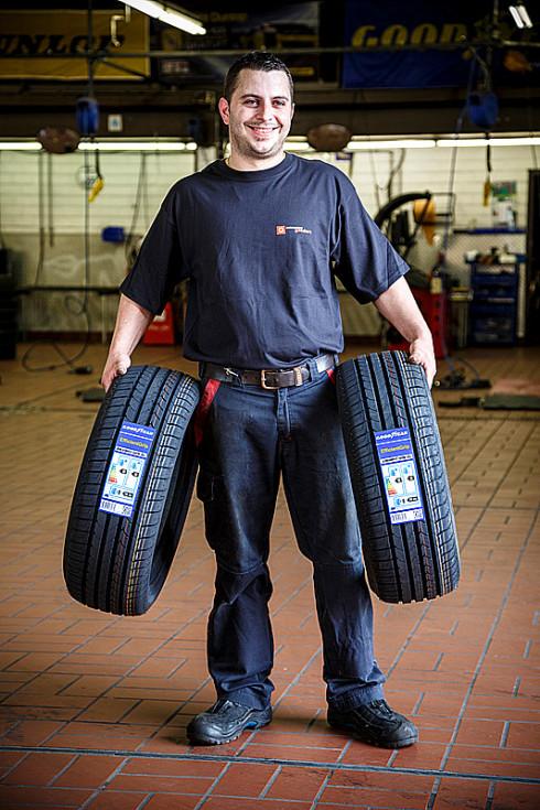 Goodyear vystavoval tento rok na ženevském autosalonu výběr pneumatik pro SUV a crossovery, které se pyšní vysokým hodnocením na evropském štítku