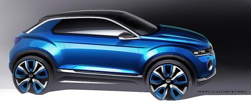 Volkswagen dnes na Ženevském autosalonu představí ve světové premiéře čtyřmístnou studii T-ROC, která ukazuje výhled na novou modelovou řadu SUV