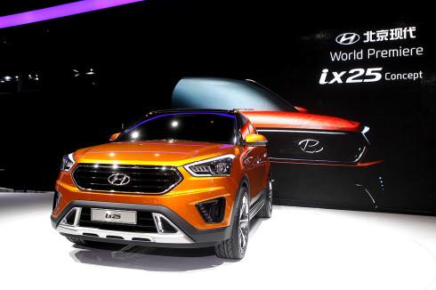 Společnost Hyundai Motor Company představila koncept modelu ix25 na mezinárodním autosalonu v Pekingu