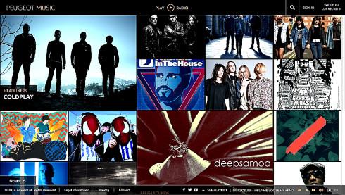 PEUGEOT MUSIC: hudební zážitky se značkou Peugeot, kdykoliv a kdekoliv