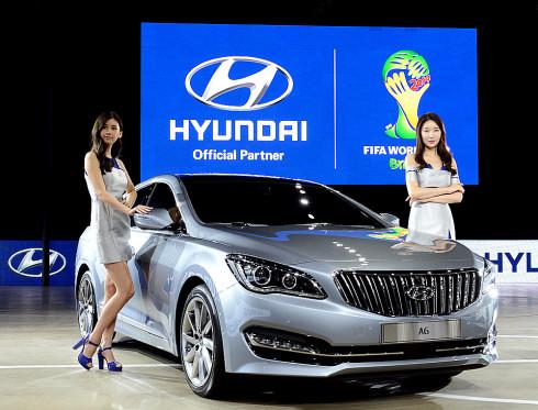 """Hyundai na autosalonu v korejském Busanu nový prémiový sedan """"AG"""", který bude ještě letos uveden na korejský trh"""