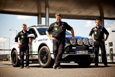 Team Zietlow vor der dritten Weltrekord-Fahrt