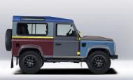 Autoperiskop.cz  – Výjimečný pohled na auta - Britský módní návrhář Paul Smith spolupracoval s Land Roverem na vytvoření zakázkového Defenderu, který je vystaven v Albemarle Street 9 v Mayfairu