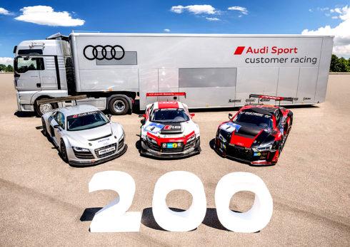 Autoperiskop.cz  – Výjimečný pohled na auta - Značka Audi vyrobila již dvoustý závodní vůz R8 LMS