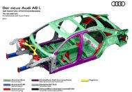Autoperiskop.cz  – Výjimečný pohled na auta - Výhled na novou luxusní limuzinu Audi A8: Prostorový rám s jedinečnou kombinací materiálů