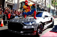 """Autoperiskop.cz  – Výjimečný pohled na auta - Maskované Audi A8 překvapivým hostem světové premiéry filmu """"Spider-Man: Homecoming"""""""