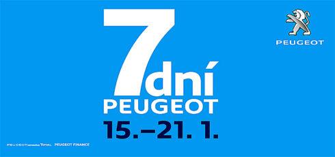 """Autoperiskop.cz  – Výjimečný pohled na auta - Akce """"7 dní Peugeot"""" odstartuje již dnes v pondělí 15. ledna a potrvá celý týden až do neděle 21.ledna"""