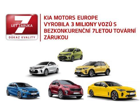 Autoperiskop.cz  – Výjimečný pohled na auta - Tři miliony vozů Kia v Evropě s jedinečnou 7letou zárukou