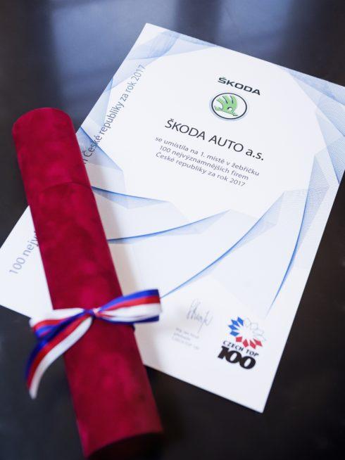 Autoperiskop.cz  – Výjimečný pohled na auta - ŠKODA AUTO je již po jednadvacáté v čele žebříčku CZECH TOP 100