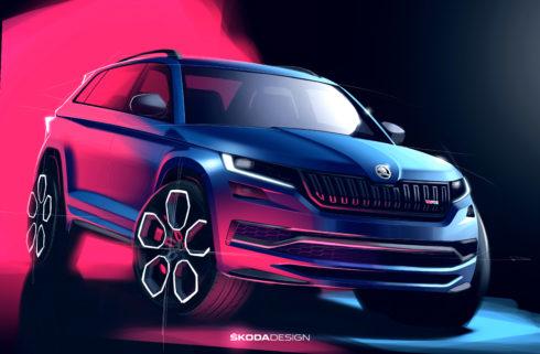 Autoperiskop.cz  – Výjimečný pohled na auta - ŠKODA zveřejnila designové skici nového modelu KODIAQ RS