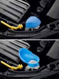 Autoperiskop.cz  – Výjimečný pohled na auta - Nové Simply Clever řešení: Integrovaný trychtýř v uzávěru nádržky ostřikovačů čelního skla