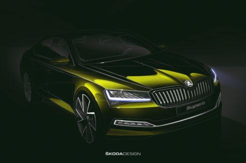 Autoperiskop.cz  – Výjimečný pohled na auta - ŠKODA ukazuje designovou skicu přepracovaného modelu SUPERB