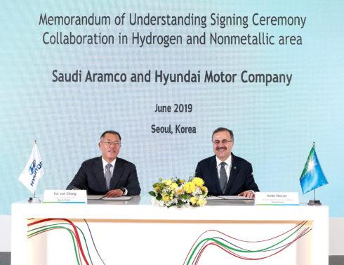 Autoperiskop.cz  – Výjimečný pohled na auta - Hyundai a Saudi Aramco spolupracují na budoucích technologiích, které využívají vodík a vyspělé nekovové materiály