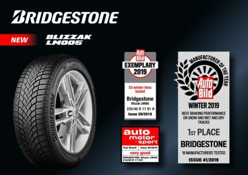 Autoperiskop.cz  – Výjimečný pohled na auta - Pneumatika Bridgestone Blizzak LM005 dosáhla vynikajících výsledků v aktuálních testech zimních pneumatik v prestižních německých motoristických časopisech