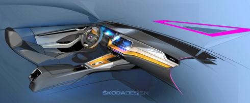 Autoperiskop.cz  – Výjimečný pohled na auta - Nová ŠKODA OCTAVIA: Designové skici ukazují nový koncept interiéru