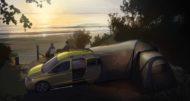 Autoperiskop.cz  – Výjimečný pohled na auta - Spaní pod hvězdnou oblohou: Volkswagen Užitkové vozy zveřejnil první fotografie nového malého kempovacího vozu