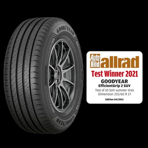 Goodyear EfficientGrip 2 SUV vítězem testu časopisu Auto Bild allrad