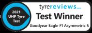 Autoperiskop.cz  – Výjimečný pohled na auta - Goodyear Eagle F1 Asymmetric 5 vítězem aktuálního testu letních pneumatik webu Tyre Reviews