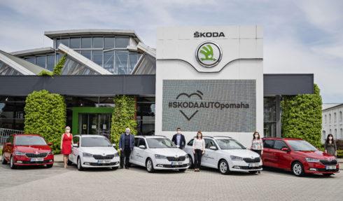 Společnost ŠKODA AUTO poskytla 16 automobilů zdravotním a sociálním organizacím