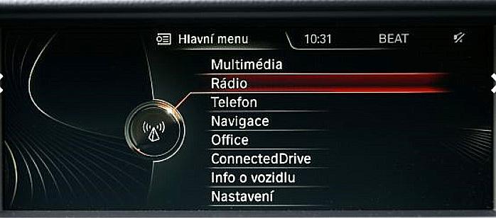 Palubní systém BMW iDrive nyní kompletně v češtině.