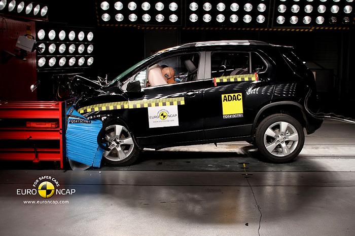 Chevrolet Trax získal pět hvězdiček v hodnocení bezpečnosti Euro NCAP