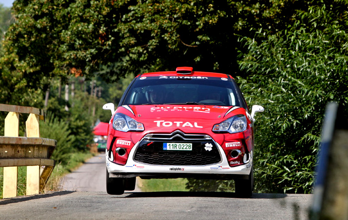 Na pátém podnik seriálu sprintrally - Rally Kostelec druhé místo pro Citroën DS3 R1B