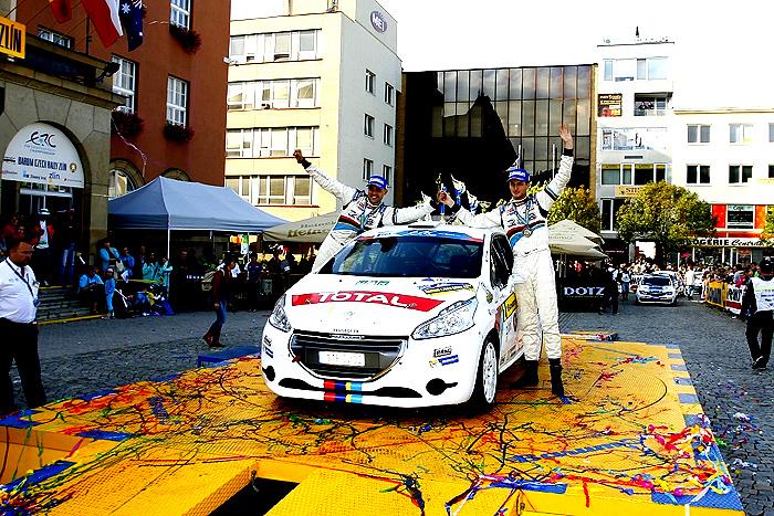 Peugeot Černý Racing slaví po Barum Rally titul mistrů ČR