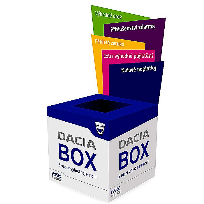 Dacia pokračuje ve své ofenzivě s novým finančním produktem DACIA BOX