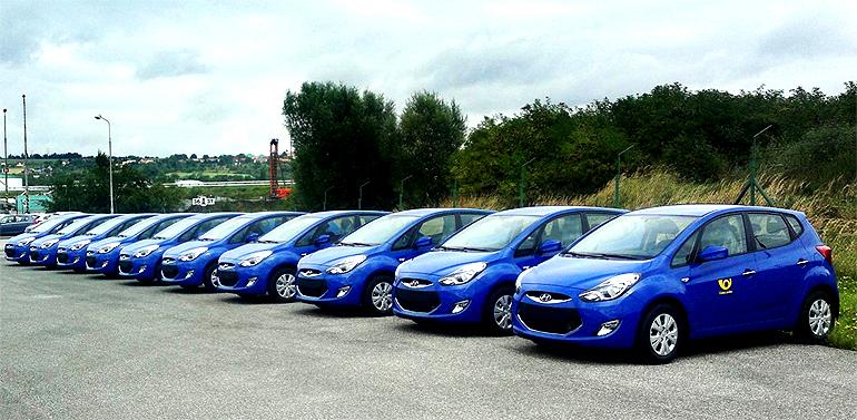 Vozy Hyundai pro Českou poštu