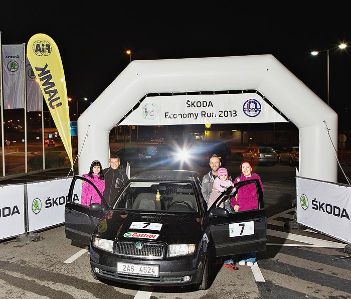 ŠKODA Fabia je vítězným vozem 32. ročníku soutěže ŠKODA Economy Run 2013