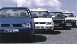 25 let vozu Volkswagen Golf