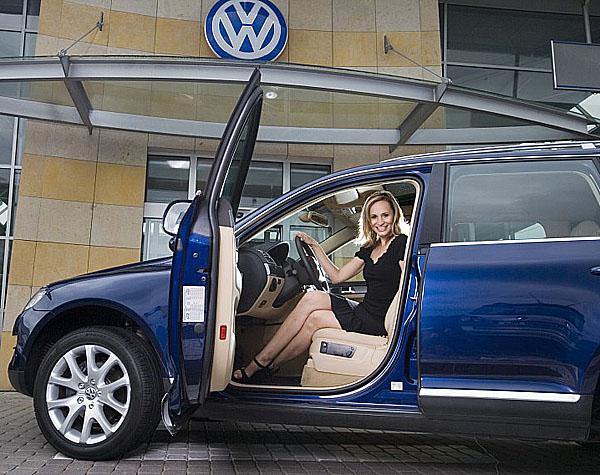 Monika Absolonová jezdí VW Touaregem