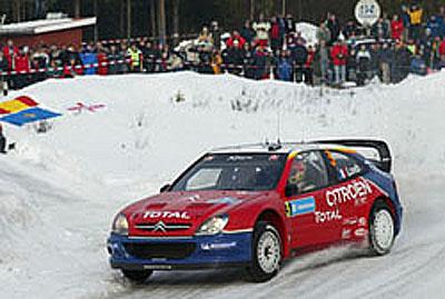 Včera absolvovali jezdci Citroenu úspěšně druhou etapu Švédské rallye