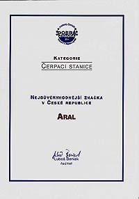 Značka Aral získala prestižní ocenění již počtvrté!