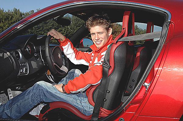 Casey Stoner testoval Alfa 8C Competizione