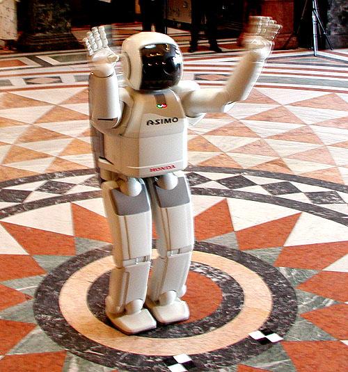 Japonský robot ASIMO v Praze