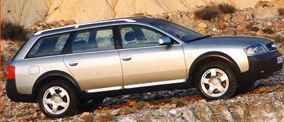 Audi allroad quattro na silnici i do terénu
