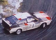 Audi quattro: Vzrušující vůz