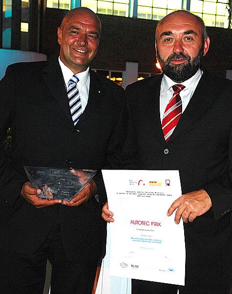 Společnost CROY s.r.o., Generální zastoupení Daimler AG pro UNIMOG vČeské republice získala cenu AUTOTEC PRIX 2008