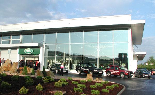 Nové reprezentační centrum Jaguar a Land Rover v Praze