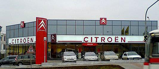 Nový reprezentativní showroom pro prodej vozů Citroën