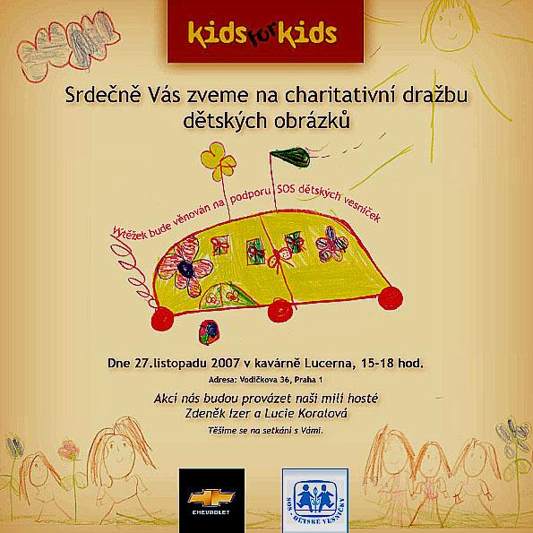 Charitativní dražba dětských obrázků - úterý 27. listopadu v 15 h v kavárně Lucerna