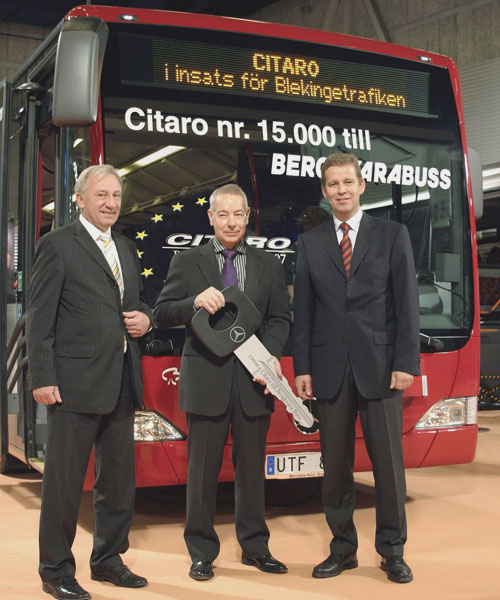 Švédský autobusový dopravce Bergkvarabuss dostal patnáctitisící Mercedes-Benz Citaro