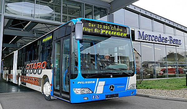 Autobus Mercedes-Benz Citaro láme všechny rekordy